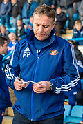 Sunderland manager Phil Parkinson during the EFL Sky Bet League 1 match between Gillingham and Sunderland at the MEMS Priestfield Stadium, Gillingham, England on 7 December 2019.