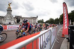 Claudia Koster (NED) of WNT Rotor Pro Cycling leans into a corner during the Prudential RideLondon Classique, a 68 km road race starting and finishing in London, United Kingdom on August 3, 2019. Photo by Balint Hamvas/velofocus.com