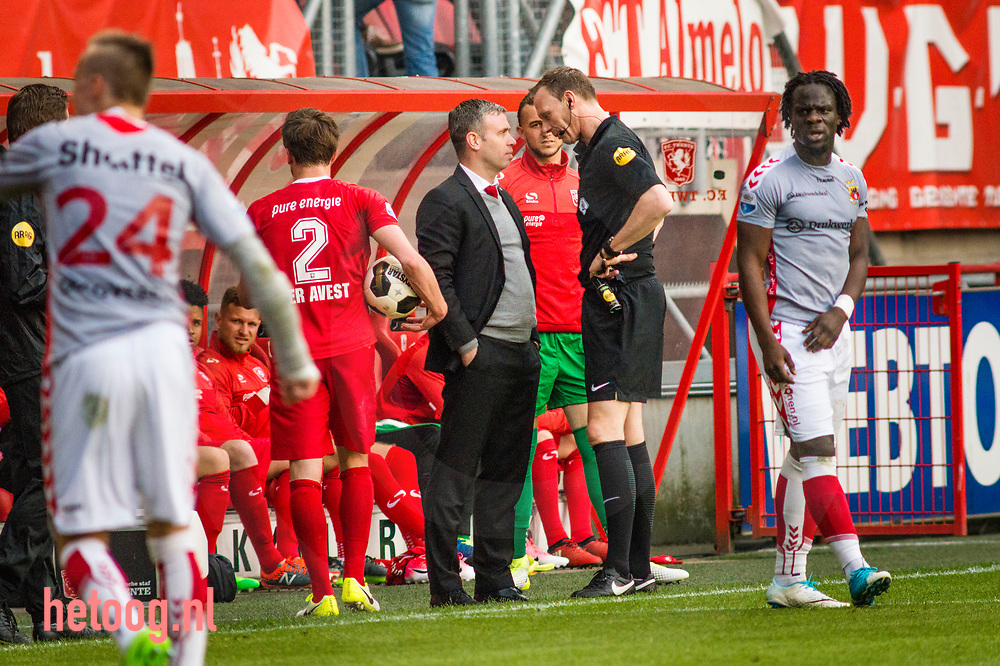 nederland, enschede 2april2017 FCTwente verliest thuis met 1-2 van Go Ahead Eagles uit Deventer.