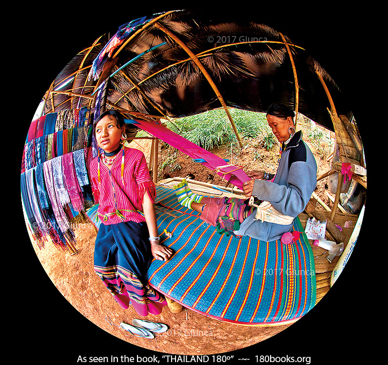 Kayor Tribe Women Weaving, Chiang Rai