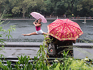 Finally some relief from the sweltering weather; The Sailboat Pond in Central Park
