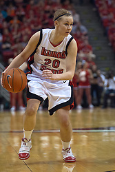 28 March 2010: Katie Broadway. The Redbirds of Illinois State squeak past the Illini of Illinois 53-51 in the 4th round of the 2010 Women's National Invitational Tournament (WNIT) on Doug Collins Court inside Redbird Arena at Normal Illinois.