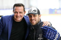 Rado Mulej and Anze Kopitar during practice at Hockey Academy of Anze Kopitar and Tomaz Razingar, on July 4, 2018 in Ice Hockey arena Bled, Slovenia. Photo by Vid Ponikvar / Sportida