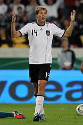 GER, Commerzbank Arena, GER, Stuttgart, FSP, LS, Deutschland (GER) vs Brasilien (BRA), im Bild .. Holger Badstuber (GER/FC Bayern München) wütend // durch the friendly ship between Germany (GER) vs Brasil (BRA) in Commerzbank Arena, Stuttgart, on 2011/08/11 EXPA Pictures © 2011, PhotoCredit: EXPA/ nph/  Hessland       ****** out of GER / CRO  / BEL ******