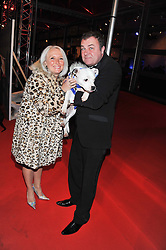 PAUL & JACKIE ROSS at the Battersea Dogs & Cats Home Collars & Coats Gala Ball held at Battersea Evolution, Battersea Park, London SW8 on 8th November 2012.