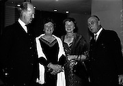 20/5/1965<br /> 5/20/1965<br /> 20 May 1965<br /> <br /> Mr. and Mrs. J.CB. McCaitty Secretary Department of Industry and Commerce;Dr Mary Dempsey of Surrey England; Mr. Norman Judd o Dublin Chairman of the Irish Hide Improvement Society at a dinner given by the Society at Jury's Hotel for the Conference delegates