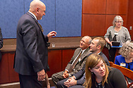 Bill Barone, gioblastoma survivor, speaks with attendees during a National Brain Tumor Society congressional briefing event at the U.S. Capitol Building visitors center on May 15, 2018. (Photo by Alan Lessig)
