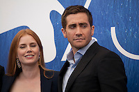 Amy Adams and  Jake Gyllenhaal at Nocturnal Animals film photocall at the 73rd Venice Film Festival, Sala Grande on Friday September 2nd 2016, Venice Lido, Italy.