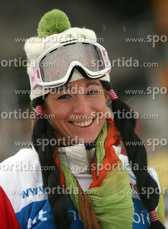 """Urska Hrovat after the second run of """"Ski Legends HIT Challenge by Jure Kosir"""" event in Kranjska Gora, Slovenia, on February 2, 2008. (Photo by Vid Ponikvar / Sportal Images)."""