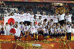 17.07.2011, Commerzbankarena, Frankfurt, GER, FIFA Women Worldcup 2011, Finale,  Japan (JPN) vs. USA (USA), im Bild:  .Team Japan feiert.. // during the FIFA Women Worldcup 2011, final, Japan vs USA on 2011/07/11, FIFA Frauen-WM-Stadion Frankfurt, Frankfurt, Germany.   EXPA Pictures © 2011, PhotoCredit: EXPA/ nph/  Mueller       ****** out of GER / CRO  / BEL ******