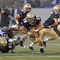 24 October 2009:   Navy fullback Alexander Teich (39) in action against the Wake Forest Demon Deacons on October 24, 2009 at Navy Marine Corps Memorial Stadium in Annapolis, Maryland.  The Naval Academy Midshipmen defeated the Wake Forest Demon Deacons 13-10.