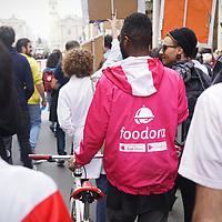 Per la prima volta a Torino i Rider di Foodora hanno partecipato all'evento del 1 maggio