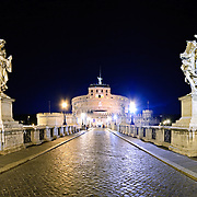High resolution panorama of the Castel Sant'Angelo, Rome
