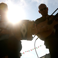 Joe Searson and Jack Healy provided the music for the set dancers as part of the Leon XIII festival in Quilty over the weekend<br />