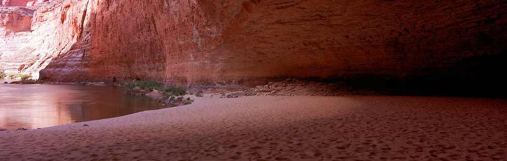 Redwall Cavern, Colorado River mile 33, Grand Canyon National Park, Arizona, USA; 3 May 2008; Fuji G617, Velvia 100