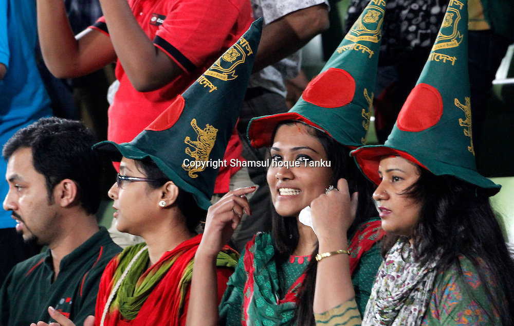 Fans and spectators -n Bangladesh v India - ICC World Twenty20, Bangladesh 2014. 29 March 2014, Sher-e-Bangla National Cricket Stadium, Mirpur. Photo: Shamsul hoque Tanku/www.photosport.co.nz