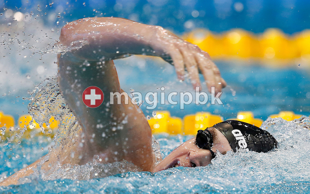 Peter BERNEK of Hungary competes in the men's 400m Freestyle Heats during the 18th LEN European Short Course Swimming Championships held at the Wingate Institute in Netanya, Israel, Wednesday, Dec. 2, 2015. (Photo by Patrick B. Kraemer / MAGICPBK)
