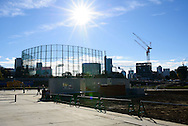 The site for the new Olympic Stadium for the 2020 Summer Olympic Games is pictured after its groundbreaking ceremony in Tokyo, Japan 11/12/2016-Tokyo, JAPAN