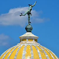 Mercury Statue on Dome of Lonja del Comercio in Havana, Cuba<br />