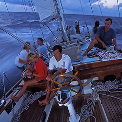 "The crew of S/Y Stormvogel cruising during the 2004 Andaman Sea Rally that sailed from Phuket, Thailand to the Andaman Islands, India. The yacht Stormvogel was featured in the hollywood movie ""Dead Calm,"" starring Nicole Kidman and Billy Zane."