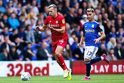 Andi Weimann of Bristol City goes past Fran Villalba of Birmingham City - Mandatory by-line: Robbie Stephenson/JMP - 10/08/2019 - FOOTBALL - St Andrew's Stadium - Birmingham, England - Birmingham City v Bristol City - Sky Bet Championship