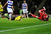 Burton's Jamie Ward (12) scores to make the score 1-0 to Burton Albion during the EFL Sky Bet Championship match between Burton Albion and Queens Park Rangers at the Pirelli Stadium, Burton upon Trent, England on 27 September 2016. Photo by Richard Holmes.