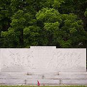 "Arkansas Memorial at the Gettysburg National Military Park.  ""The grateful people of the state of Arkansas erect this memorial as an expression of their pride in the officers and men of the third Arkansas infantry, Confederate States Army.  Who by their valor and their blood have made this ground forever hallowed.""   The Battle of Gettysburg lasted from July 1-3, 1863 resulting in over 50,000 soldiers killed, wounded or missing.  John Boal Photography"