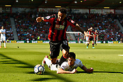 Joshua King (17) of AFC Bournemouth is fouled by Federico Fernandez (33) of Swansea City during the Premier League match between Bournemouth and Swansea City at the Vitality Stadium, Bournemouth, England on 5 May 2018. Picture by Graham Hunt.