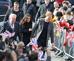 Prince Harry and his finance Meghan Markle visited Edinburgh, where they went to Social Bite, a cafe which helps the homeless.<br /> <br /> © Dave Johnston / EEm