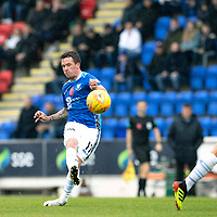 St Johnstone v Celtic…07.10.18…   McDiarmid Park    SPFL<br />Danny Swanson shoots over the bar<br />Picture by Graeme Hart. <br />Copyright Perthshire Picture Agency<br />Tel: 01738 623350  Mobile: 07990 594431