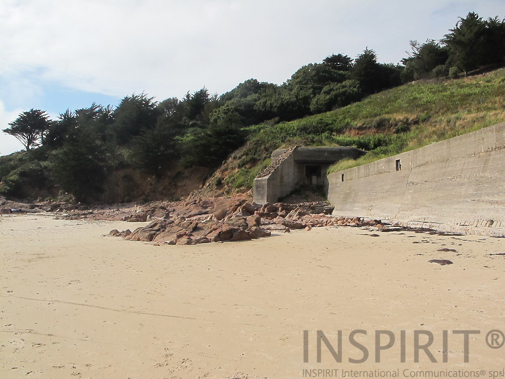 Old German bunker from wwII at the beach at the island of Jersey. Photo: Tuuli Sauren / Inspirit International Communications