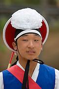 Korean Folk Village. Traditional farmers' dance.