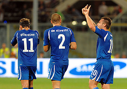07.09.2010, Stadio Artemio Franchi, Florenz, ITA, UEFA 2012 Qualifier, Italia v Faer Oer, im Bild antonio cassano esulta dopo aver segnato  il gol.EXPA Pictures © 2010, PhotoCredit: EXPA/ InsideFoto/ Massimo Oliva *** ATTENTION *** FOR AUSTRIA AND SLOVENIA USE ONLY! / SPORTIDA PHOTO AGENCY