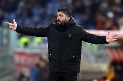 February 3, 2019 - Rome, Italy - AS Roma v AC Milan - Serie A.Gennaro Gattuso manager of Milan at Olimpico Stadium in Rome, Italy on February 3, 2018. (Credit Image: © Matteo Ciambelli/NurPhoto via ZUMA Press)