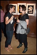JULIE THORNE; MARTA MICHALOWSKA, The wapping project Mayfair opening in Dover St. London. 17 September 2014.