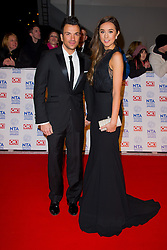 Peter Andre and Emily MacDonagh arrives at the National Television Awards at the 02 Arena, London Wednesday January 23, 2013. Photo by Chris Joseph / i-Images