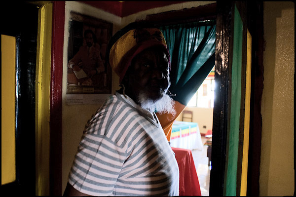 """Exodus to the East ... on the trail of Markus Garvey's movement, pursuing the ideals of the Rasta beliefs, Mama S. 40 years ago left her land, Jamaica. .Tabernacle of the Twelve Tribes, Shashemene, south Ethiopia, on saturday, March 22 2008.....""""Shashamene or Shashemene (ethiopian name), located in the Oromia Region of Ethiopia, is """"the place"""", the ancestral homeland. For the whole Rastafarians repatriation to Africa or to Zion or to the Promise Land is the first goal. Rastas assert that """"Mount Zion"""" is a place promised by Jah and they  claim themselves to represent the real Children of Israel in modern times. During the last years of the 40's, Emperor Haile Selassie I, considerated from that movement incarnation of God, donated 500 acres of his private land to members and other settlers from Jamaica including other parts of the Caribbean..The Rastafarian settlement in Shashamane was recently reported to exceed two hundred families. In January 2007 it organized an exhibition and a bazaar in the city. It was also reported recently prior to the Ethiopian Millennium that various pro-Ethiopian World Federation groups, consisting of indigenious Ethiopians and Rastafarians, have given support to one of many five year plans proposed for sustainable development of Shashamene, Ethiopia."""""""