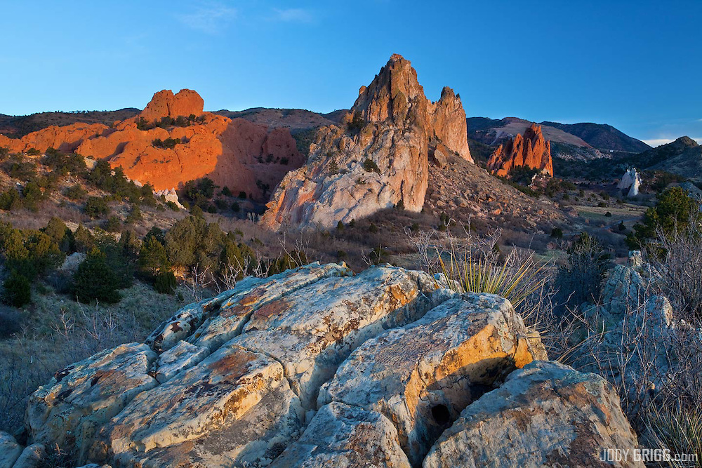 Sunrise in Garden of the Gods park.