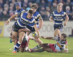 Ollie Devoto of Bath Rugby in action. - Photo mandatory by-line: Alex James/JMP - Mobile: 07966 386802 - 28/11/2014 - SPORT - Rugby - Bath - Recreation Ground - Bath  v Harlequins  - Aviva premiership