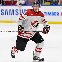 WHITBY, - Dec 14, 2015 -  Game #4 - Russia vs. Canada East at the 2015 World Junior A Challenge at the Iroquois Park Recreation Complex, ON. Derek Topatigh #6 of Team Canada East during the first period.<br /> (Photo: Shawn Muir / OJHL Images)