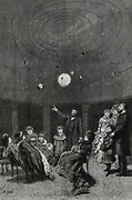 Demonstration of  Pernini's planetarium in London, 1880.