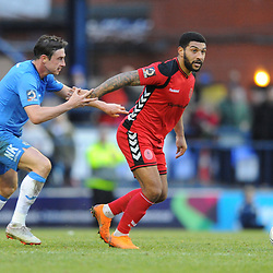 TELFORD COPYRIGHT MIKE SHERIDAN 16/2/2019 - Ellis Deeney of AFC Telford during the Vanarama Conference North fixture between Stockport County and AFC Telford United at Edgeley Park