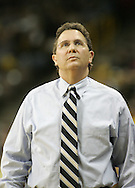 26 NOVEMBER 2007: Iowa head coach Todd Lickliter looks up at the scoreboard in Wake Forest's 56-47 win over Iowa at Carver-Hawkeye Arena in Iowa City, Iowa on November 26, 2007.