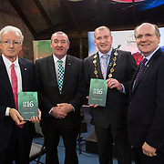 08/12/2015                <br /> Limerick City & County Council launches Ireland 2016 Centenary Programme<br /> <br /> An extensive programme of events across the seven programme strands of the Ireland 2016 Centenary Programme was launched at the Granary Library, Michael Street, Limerick, last night (Monday, 7 December 2015) by Cllr. Liam Galvin, Mayor of the City and County of Limerick.<br /> <br /> Led by Limerick City & County Council and under the guidance of the local 1916 Co-ordinator, the programme is the outcome of consultations with interested local groups, organisations and individuals who were invited to participate in the planning and implementation of events and initiatives during 2016.  <br /> <br /> Pictured at the event were, Michael O'Reilly, 2016 Office Dublin, Pat Dowling, Deputy CEO Limerick City and County Council, Mayor of Limerick, Cllr. Liam Galvin and Damien Brady, 2016 Co-Ordinator. Picture: Alan Place