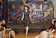 A model for designer TRacyseWS at the LadyFest Fashion Show at c{space in downtown Dayton, Saturday, August 7. 2010..