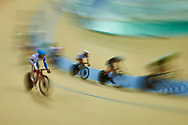 Ashgabat, Turkmenistan - 2017 September 23:<br /> Men's Omnium Scratch Final while Track Cycling competition during 2017 Ashgabat 5th Asian Indoor & Martial Arts Games at Velodrome (VEL) at Ashgabat Olympic Complex on September 23, 2017 in Ashgabat, Turkmenistan.<br /> <br /> Photo by © Adam Nurkiewicz / Laurel Photo Services