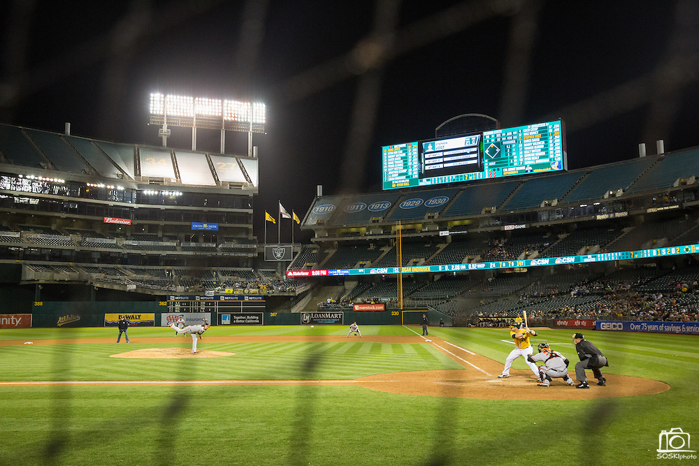 Baltimore Orioles relief pitcher Logan Ondrusek (51) pitches to Oakland Athletics catcher Stephen Vogt (21) in the seventh inning at Oakland Coliseum in Oakland, Calif. on August 8, 2016. (Stan Olszewski/Special to S.F. Examiner)