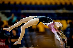 October 28, 2018 - Doha, Quatar - Emilie Winther of  Denmark   during  Floor qualification at the Aspire Dome in Doha, Qatar, Artistic FIG Gymnastics World Championships on 28 of October 2018. (Credit Image: © Ulrik Pedersen/NurPhoto via ZUMA Press)
