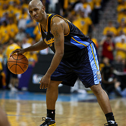25 April 2009: Denver Nuggets guard Chauncey Billups (7) on the court during a 95-93 win by the New Orleans Hornets over the Denver Nuggets in game three of the NBA Western Conference quarter-finals playoff at the New Orleans Arena in New Orleans, Louisiana.