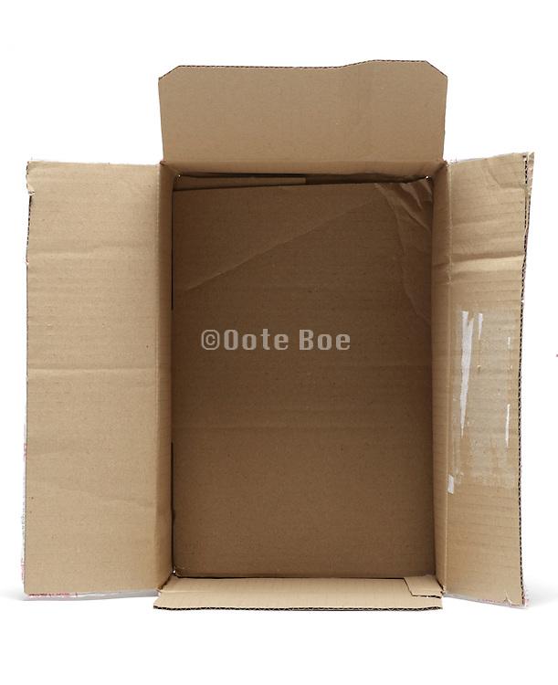 open corrugated carton box